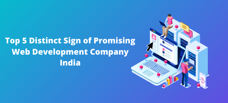 Top 5 Distinct Sign of Promising Web Development Company India